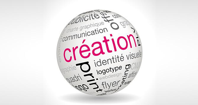 Création publicitaire, identité, logotype, plaquette