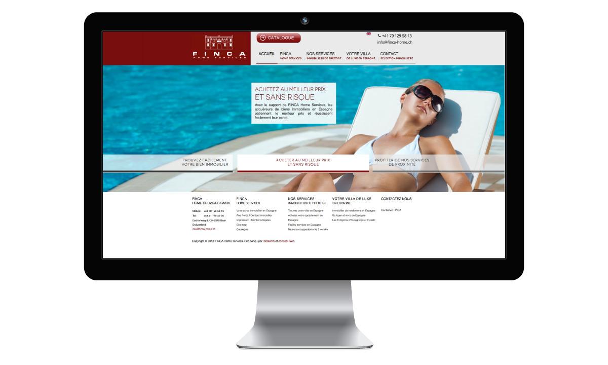 Site internet pour la vente de biens immobiliers
