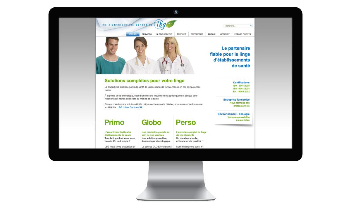 Site internet de l'entreprise LBG SA