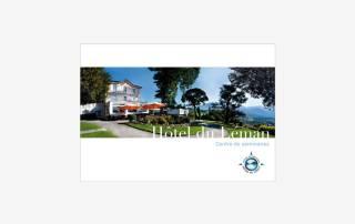 Plaquette d'entreprise de l'Hotel du Léman