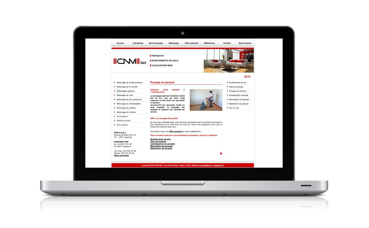 Création d'un site internet et d'une campagne Google Adwords pour l'entreprise de nettoyage CNM Sàrl