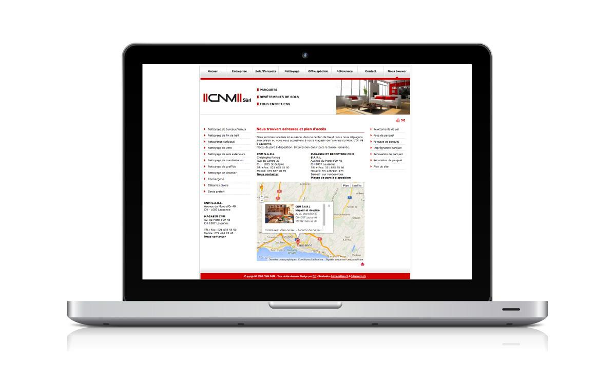 Création d'un site internet pour l'entreprise de nettoyage CNM Sàrl