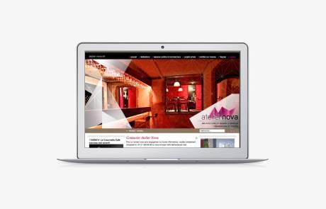 Création du site internet d'Atelier Nova (Lausanne, Genève)