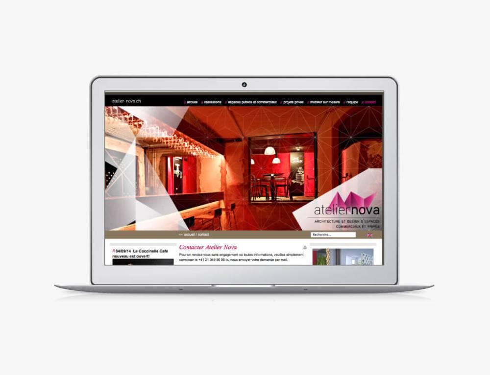 Marketing et création du site internet | Atelier Nova