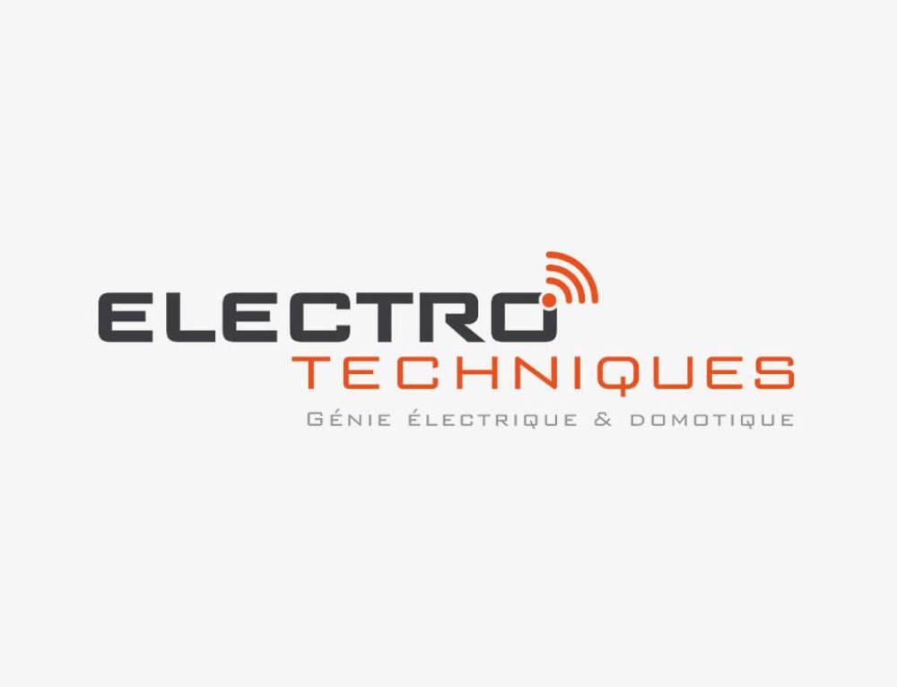 Electro-Techniques : création du nom de marque et du logo