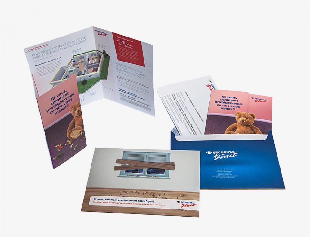 Création et distribution d'un mailing pour Securitas Direct SA