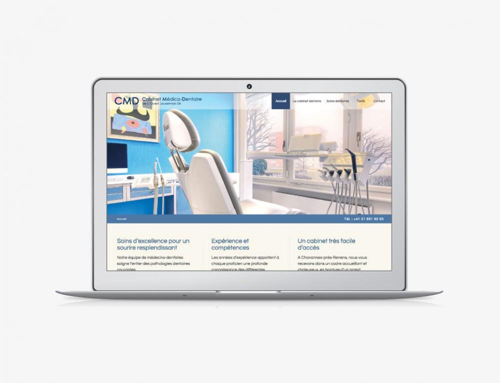 Dentiste : création du site internet