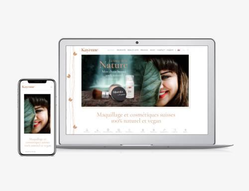 Kayenne Cosmetics : digital marketing, branding et site e-commerce